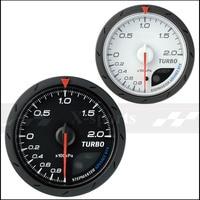 Turbo Manometric Gauges CR 60mm Scale 200kPa White Black Car Boost Sensor Racing Gauge Free Shipping