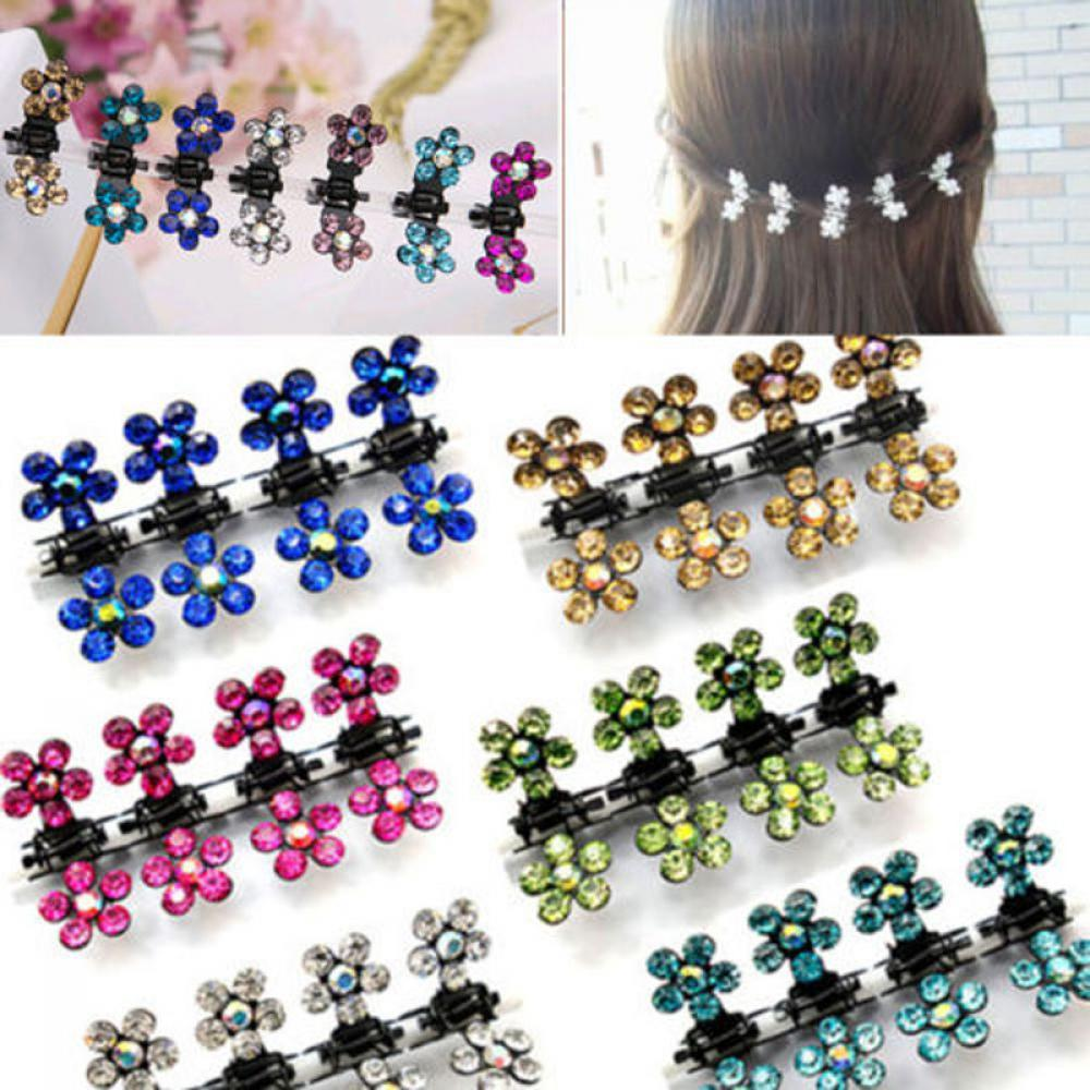 12 Pcs/Set Lovely Girls Hairpins Kids Flower Mini Barrettes Lady Hair Flower Claw Clamp Hair Clip hair accessories for women women retro blue crystal hairpins hair clip hair accessories girls cute bowknot butterfly flower hair pin barrettes headdress
