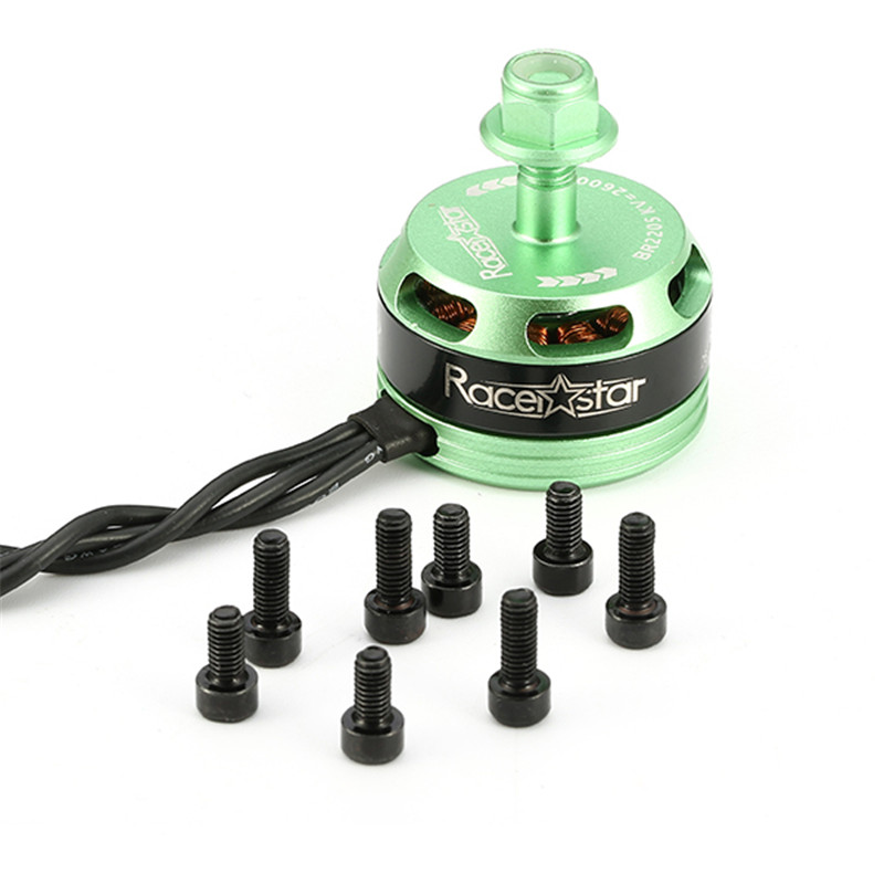 Hot New Racerstar Racing Edition 2205 <font><b>BR2205</b></font> 2600KV 2-4S Brushless Motor CW/CCW Green For QAV250 ZMR250 260 image