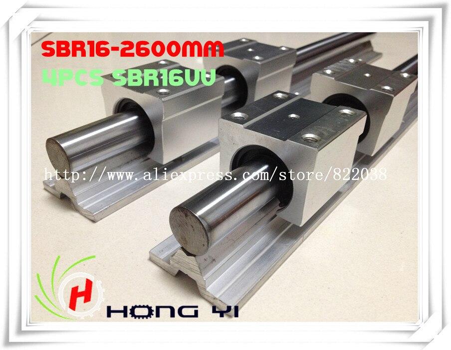 2 X SBR16 L = 2600mm Linear Rails +4 X SBR16UU straight-line motion block for SFU1605 Ball screw (can be cut any length) 2 x sbr20 l 900 1300mm linear rails 8 x sbr20uu 2 x sbr16l 400mm 4 x sbr16uu can be cut any length