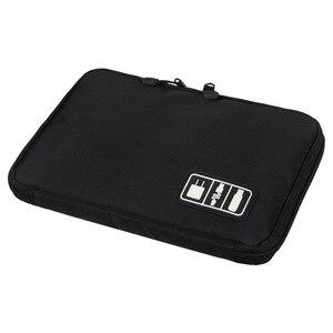 Image 3 - جديد العالمي المنظمون الإلكترونية السفر حقيبة التخزين ل الحبل USB كابلات فلاش حملة سماعة قوة البنك