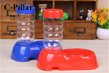 350ml Blue/ Red Dog Drinking Bottles Fountain Convenient Pet Products Automatic Pet Dog Cat Water Feeding Waterers Treats