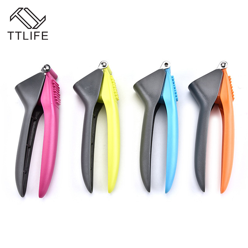 TTLIFE 1pc Manual Ginger Crusher Garlic Chopper Stainless Steel +ABS Press Stirrer Kitchen Gadgets