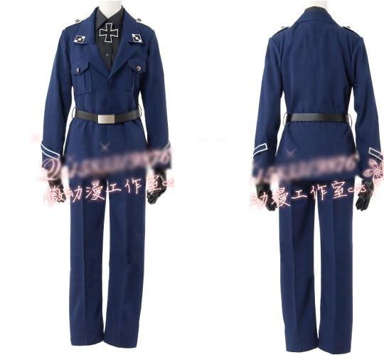 Nouveau 2019 APH axe pouvoirs Hetalia prusse Gilbert Cosplay Costume armée uniforme sur mesure pour adulte ou enfants livraison gratuite
