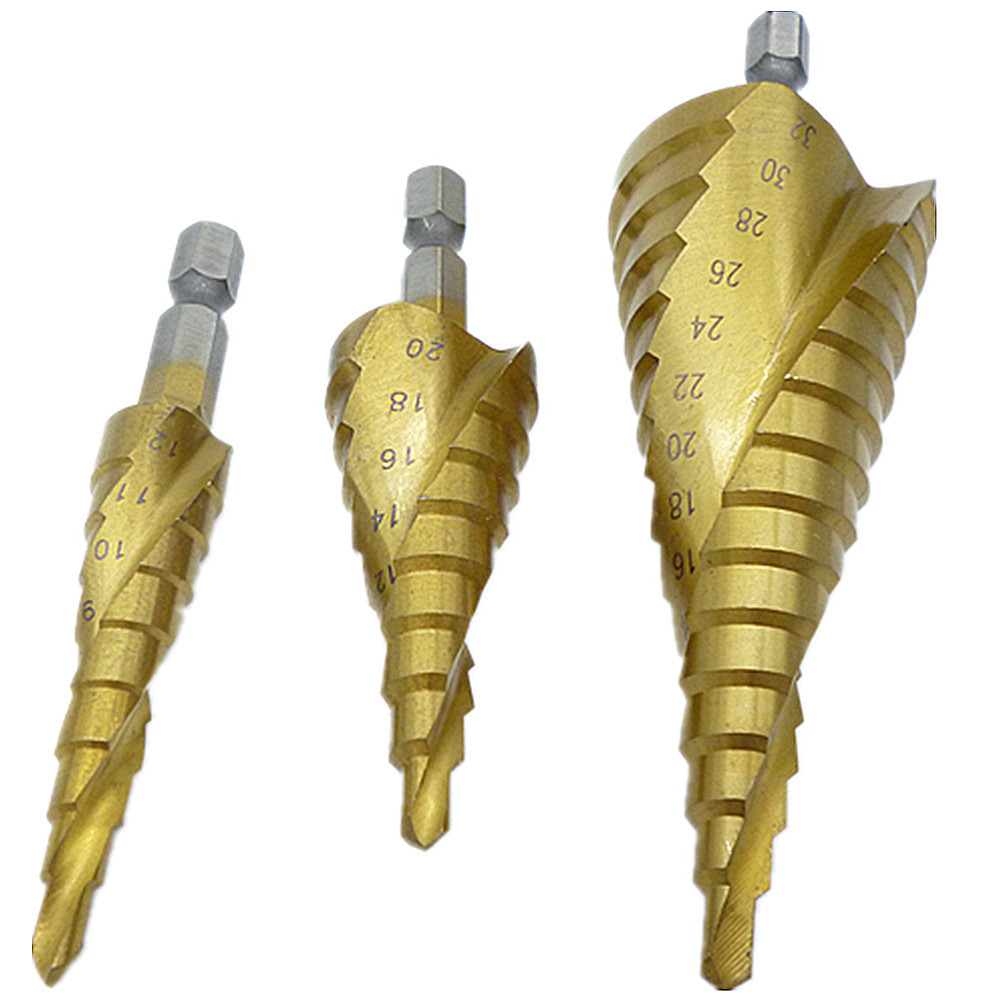 Step Drill Bits Cut Tool Set 4mm to 12mm20mm32mm
