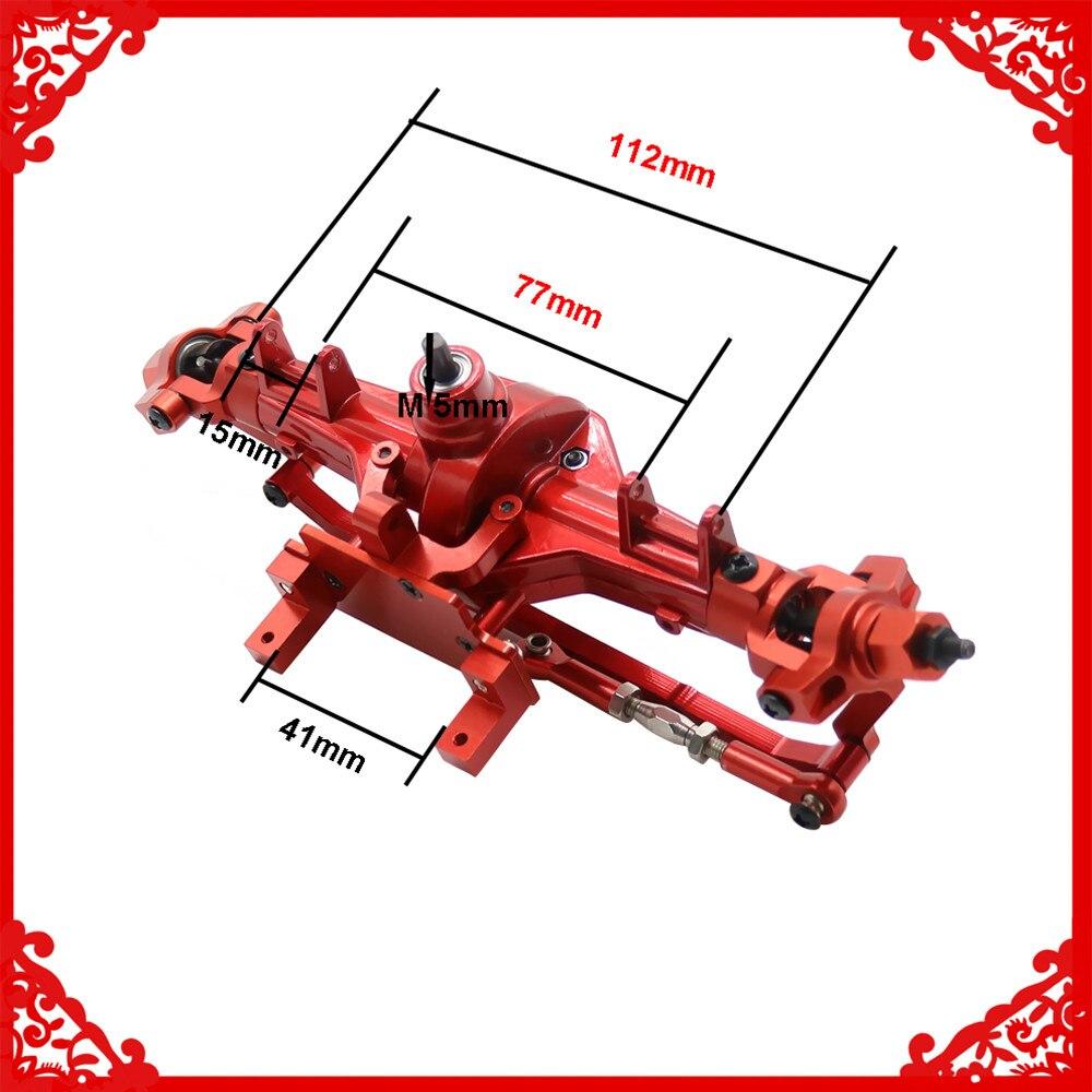 Boîte de vitesse avant (avec engrenages en acier) assemblée pour voiture RC 1/10 HSP rock chenille 94180 RGT 18000 Himoto Redcat Hop-up pièces améliorées