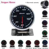 12V Defi Oil Pressure Turbo Boost Gauge Oil Temp Water Temperature Meter With Sensor and Holder for Car Racing