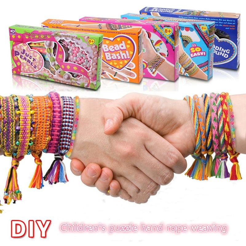 Children's Handmade DIY Bracelet Rainbow Knitting Machine Creative Hand Rope Girls Toys Gift