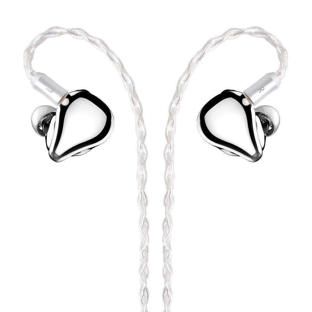 NICEHCK F3 Flagship Planar Drive Unit+1BA+1DD Hybrid 3 Drive In Ear Earphone Detachable HiFi Metal Headset Orthodynamic Earphone