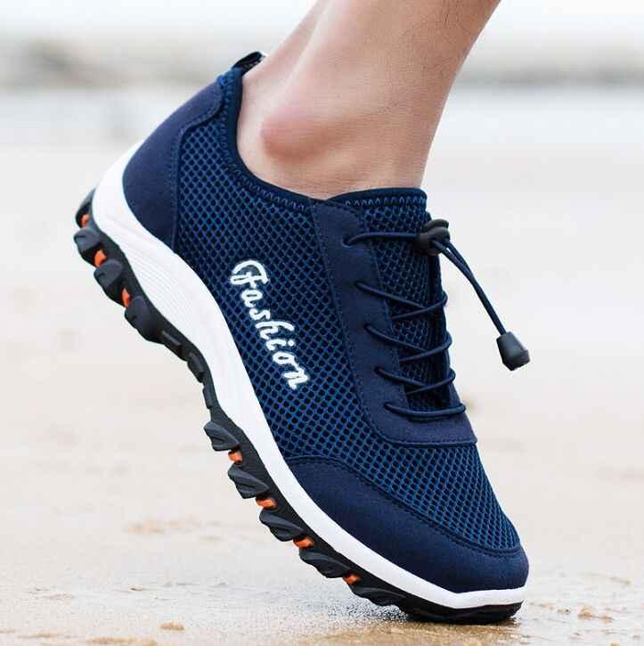 Mannen Sneakers Mannen Casual Schoenen Merk Mannen Schoenen Mannelijke Mesh Flats Plus Big Size Loafers Ademend Slip Op Lente schoenen