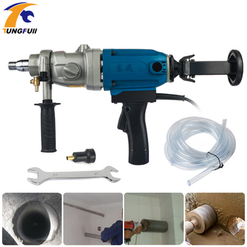 1800W High Power Drilling Machine Power Tool High Power Portable Rhinestone Concrete Drilling Machine 3-Speed Diamond Drill Bit machine drill sturm bd7045 power 450 w cartridge from 0 to 16mm speed from 280 to 2350 rpm
