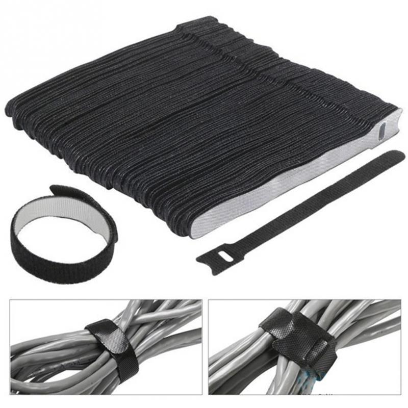 Cable Ties 30Pcs set Magic Sticker Nylon Reusable Back To Back Cable Ties with Eyelet Holes 20 x 150mm Sticky Straps 716 in Cable Ties from Home Improvement