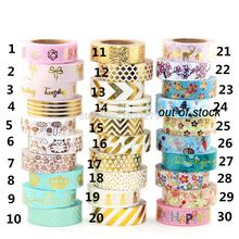 1Pc/Pack Size 15 mm*10m Kawaii Scrapbooking Tools DIY Stripes,CATS  & Dots Japanese Paper Foil Washi Tapes Masking Tape цена и фото