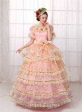2016 New Adult Womens Sexy Deluxe Halloween Party European Court Dress Queen Costumes Outfit Fancy Cosplay Costume