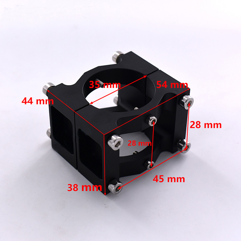1pcs 35mm Aluminum Carbon Fiber Tube Clamp Motor Mount Fixture Clip Holder Connected Pipe Clamp for Plant UAV Drone Replacement 1pc 12mm carbon fiber tube motor mount seat base for 22 series motor 2204 2206 2208 motor