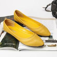 b681876ba2b81 New Arrival British Womens Yellow Flats Fashion Forward Pointed Toe Shallow  Ladies Grey Casual loafer Shoes