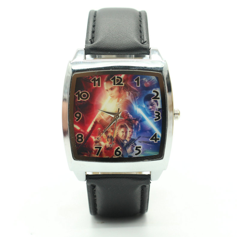 Fashion Star Wars Watch Leather Strap Watches Popular Boy Watches Male Hour Clock