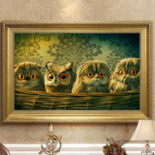 Owl 5D Diy Diamond Painting Animal Landscape Cross Stitch Embroidery Mosaic Home Full Rhinestone