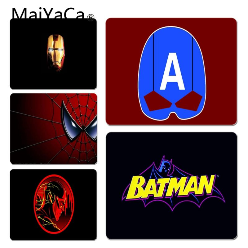 MaiYaCa 2018 New Marvel super hero logo Customized laptop Gaming mouse pad Size for 180*220 200*250 250*290 Hot Mouse Pad