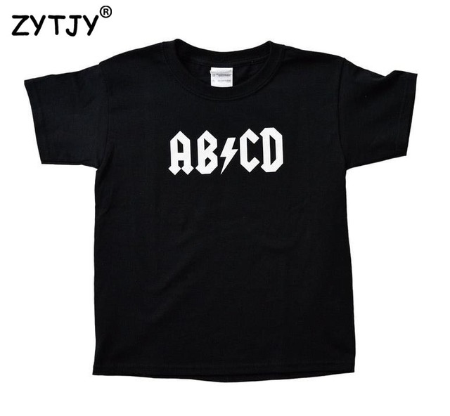 cf4cc0d4 ABCD Letters Print Kids tshirt Boy Girl shirt Children Toddler Clothes Funny  Top Tees Z-