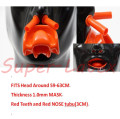 Latex Mask 3D mask 1.0mm Latex Men Heavy Mask with Red Teeth AND Red nose tube Heavy(Fits 59-63cm)
