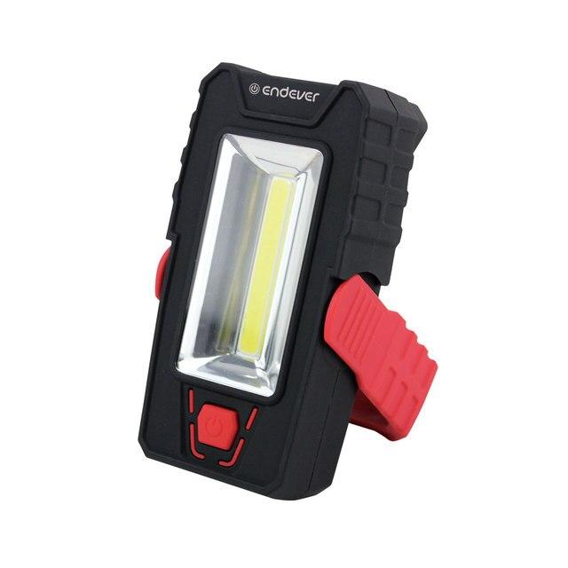 Универсальный LED фонарь Endever Elight F-205 red  black 97108 (Ударопрочный пластик, 2 типа освещения, 120 люмен, LED (1 Вт) + 1 СОВ LED (3 Вт), оснащён поворотной подставкой со встроенным магнитом)