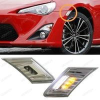 CYAN SOIL BAY White Amber LED Clear Lens Side Marker Blinker Lights For Scion FR S