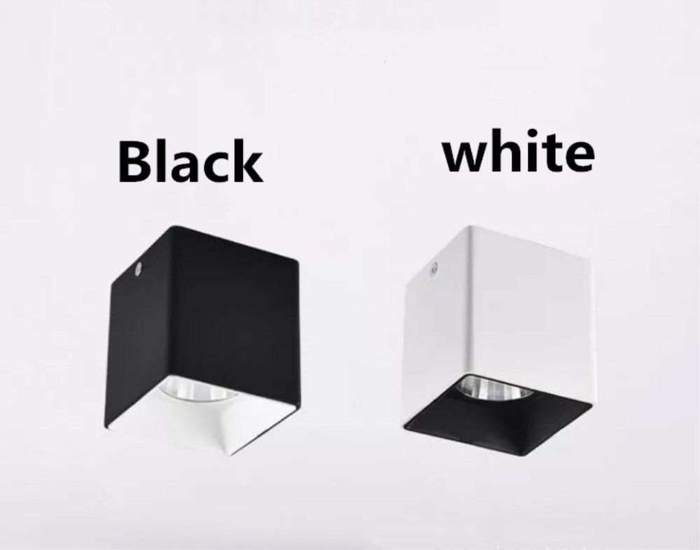 3W 5W 7W 15W 20W COB Square type mounted downlight  led spotlight 3W 5W 7W 15W 20W COB Square type mounted downlight  led spotlight