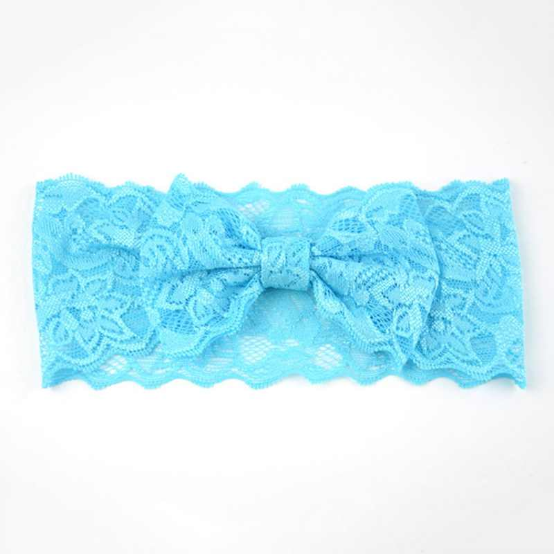 1 Piece Bowknot Baby Lace Baby Girls Hair Bow Knot Head Band Infant Newborn Bows Headwear Hairband Headwrap Floral Headbands