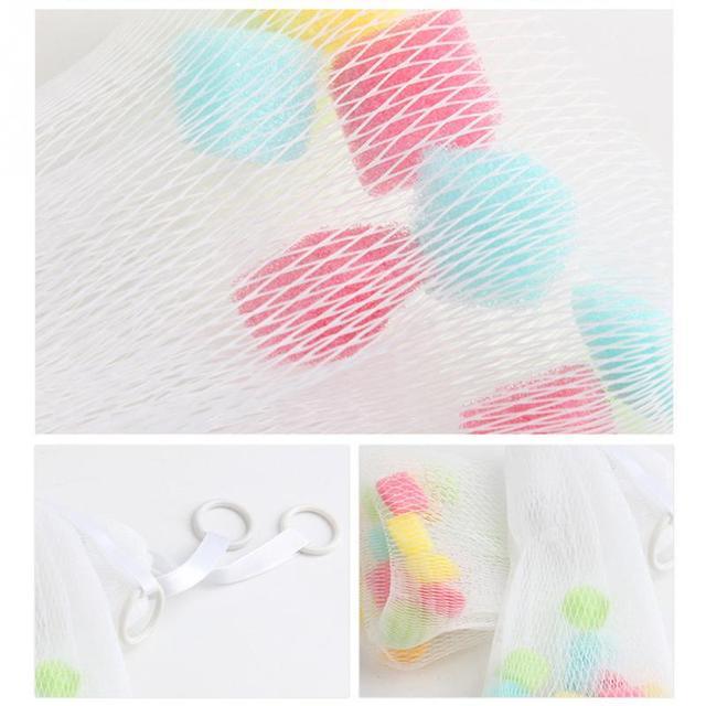 Facial Body Cleansing Soap Foaming Net Bubble Helper Mesh Cleanser Bath Washing Bathroom Accessories 24x 8 cm white