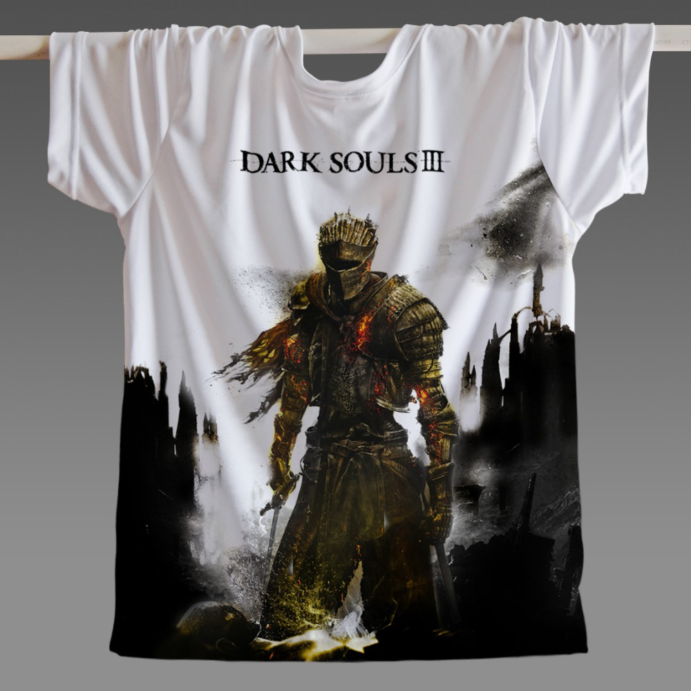 2018 Classic Game Women Men Skate boarding T Shirt outdoor Dark Souls 2 Costumes Video Game Plus Size Drop ship