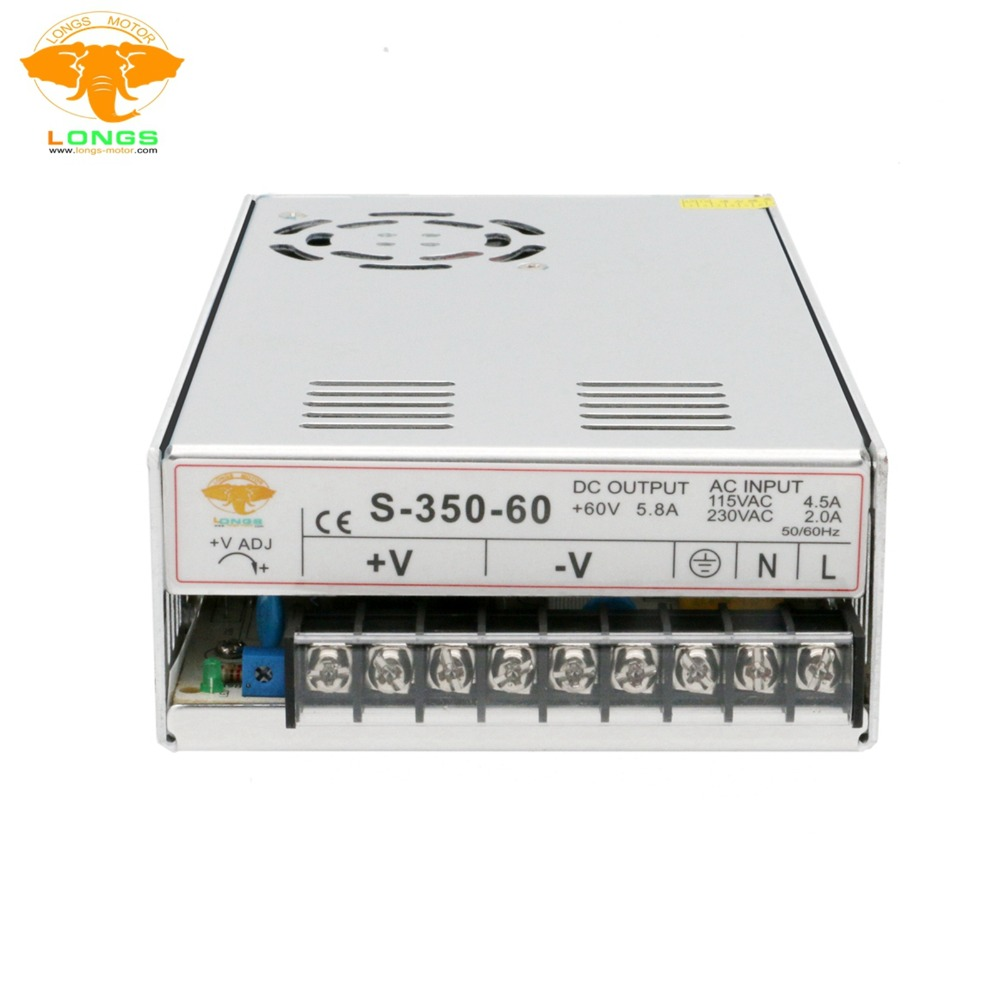 EU Free shipping 3 8days Power Supply 350W 60V Single Output Power Supply 350W 60V for