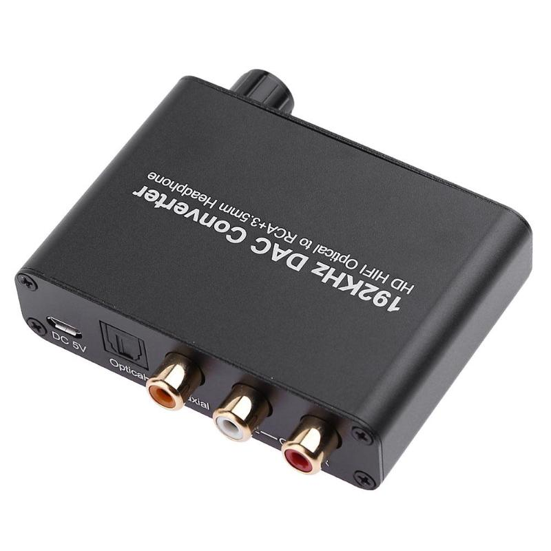ALLOYSEED Digital Audio Decoder For DTS AC-3 To 5.1CH Analog Decoder Optical Coaxial To RCA 3.5mm Jack Converter Adapter