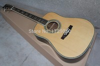 2017 Chinese Factory Custom New Abalone Inlays Solid Spruce Top Natural Wood D Model 45 Folk Acoustic Guitar Free Shipping 917