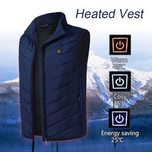 Down Cotton USB Electric Vest Heated Thermal Hot Clothing Winter Physiotherapy Heating Coat Jacket