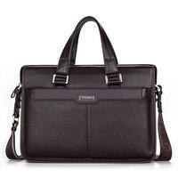 Портативный сумки Для мужчин из натуральной кожи Бизнес сумка Портфели большая сумка из воловьей кожи Портфели ноутбук сумка