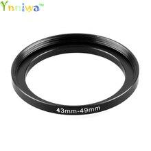43 49mm Metalen Step Up Ring Lens Adapter Filter Set