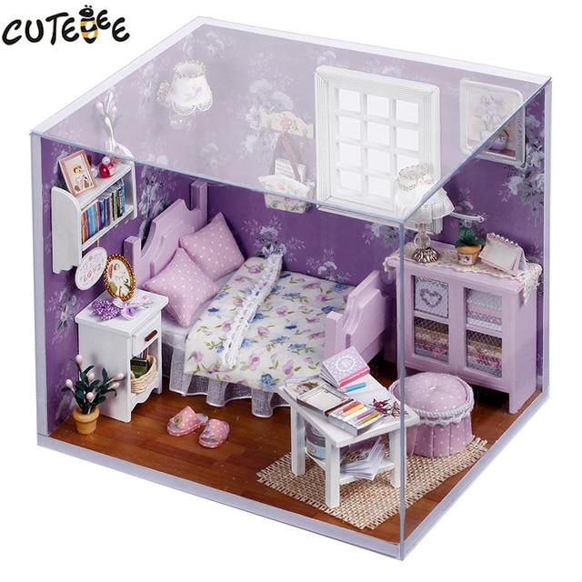 Домашний декор «сделай сам», деревянный дом Miniatura Craft с мебелью, аксессуары для украшения дома, фигурки, миниатюрный мини подарок для сада H