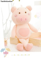 large 90cm cute pink pig plush toy cartoon pig down cotton very soft doll sleeping pillow birthday gift s0635
