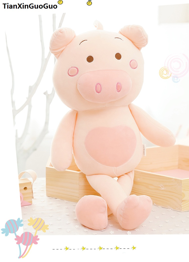 large 90cm cute pink pig plush toy cartoon pig down cotton very soft doll sleeping pillow birthday gift s0635 large 90cm cartoon pink prone pig plush toy very soft doll throw pillow birthday gift b2097