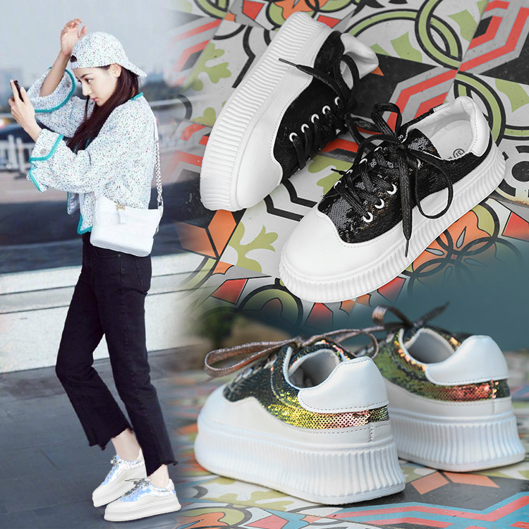 New casual shoes female Korean wild sneakers women Female breathable lace-up mesh womens shoesNew casual shoes female Korean wild sneakers women Female breathable lace-up mesh womens shoes