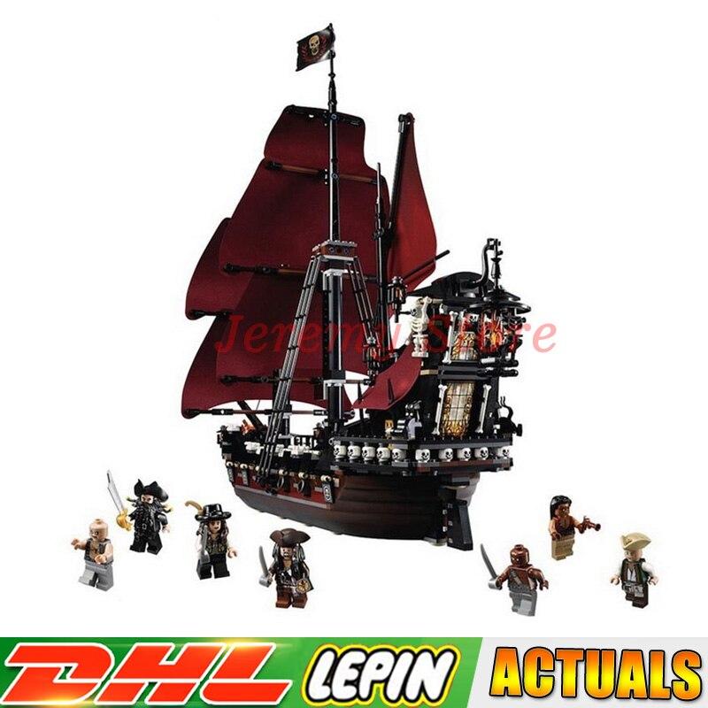 2018 LEPIN 16009 1151pcs Queen Annes revenge Pirates of the Caribbean Building Blocks Set Compatible with 4195 Children DIY