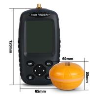FFW718 Fish finder Nga menu Tiếng Anh menu Waterpoof Không Dây Fishfinder Sensor 125 kHz Sonar echo âm vang