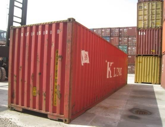 Used 40 feet high cube WWT Steel Shipping Containers for sale on