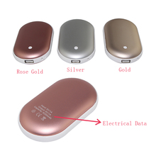 Hand Warmer Power Bank 5200mAh Multifunctional External Battery Pocket Heater Portable Power Bank