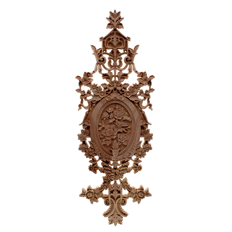 VZLX bois Appliques Figurines décalcomanie meubles sculpté fenêtre décor Miniatures en bois artisanat décoration maison accessoires bricolage