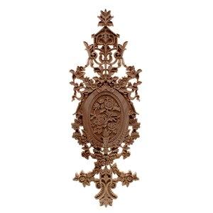 Image 1 - VZLX الخشب يزين التماثيل ملصق أثاث منحوتة نافذة ديكور المنمنمات الحرف الخشبية إكسسوارات ديكور منزلي لتقوم بها بنفسك