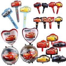 Balões Folha de Carro de corrida 1 pc 18 polegadas Carro Dos Desenhos Animados Da Disney Globos de Ar Portátil Ballon Feliz Aniversário Decorações Do Partido Crianças brinquedos