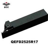 ZCC. CT gloednieuwe Afscheid en steekgereedschap QEFD2525R17 CNC draaien gereedschaphouder-in Draaigereedschap van Gereedschap op