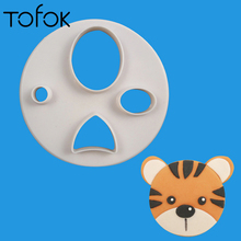 ФОТО tofok animal face cookie mold diverse diy plastic sugarcraft biscuits mould kitchen tool decoration party carton animal shape